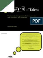 5 Secrets of Talent