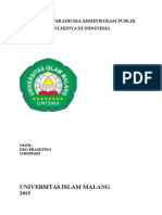 Pergeseran Paradigma Administrasi Publik Di Indonesia