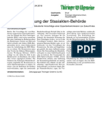 2016-04-28 Kritik an Aufloesung der Stasi-Aktenbehoerde - ThA