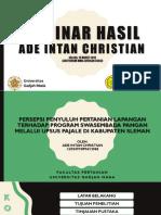 Seminar Hasil Skripsi PKP UGM Ade Intan Christian