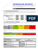 Ejemplo  de Informe de Estado de Proyecto