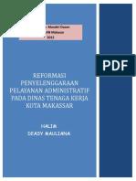 Reformasi Penyelenggaraan Pelayanan  Administratif Disnaker Kota Makassar.pdf