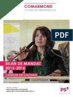 Bilan de mandat 2015-2016 d'Hélène de Comarmond