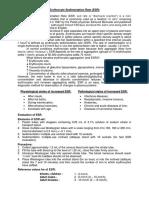 Unit1 Medical Erythrocyte Sedimentation Rate