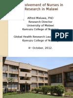 Nursing in Research in Malawi