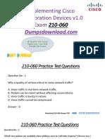 Cisco 210-060 Exam Dumps