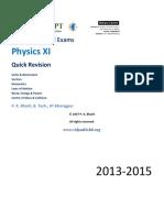 Quick Revision Mechanics XI 2014