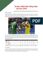 Đội Tuyển Ukraine Chính Thức Dừng Chân Tại Euro 2016