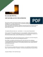 Knoblauch - Zitronen Kur