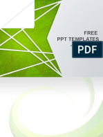 Abstract Green Background for Streaks Design PowerPoint Templates Standard