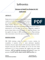 Timing Error Tolerance in Small Core Designs for SoC Applications Docx