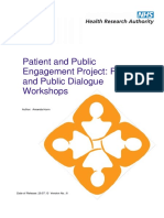 Patient and Public Workshops Dialogue Report