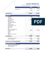Income Statement for Graphic Store