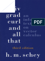 Div Grad Curl and All That an Informal Text on Vector Calculus 3ed h m Schey PDF