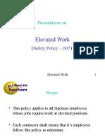 Elevated Work SP 007