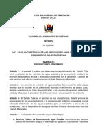 ley agua potable 2012 Zulia