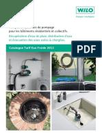 Catalogue Tarif Eau Froide 2012