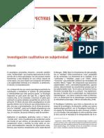 Investigación cualitativa en subjetividad