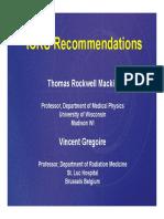 Recomendaciones ICRU Márgenes Tratamiento