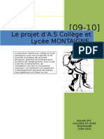Projet d as Lycee Montaigne