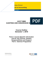 ACCT5908 Auditing and Assurance Services S12016