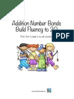 Addition Number Bonds to 20 Sample