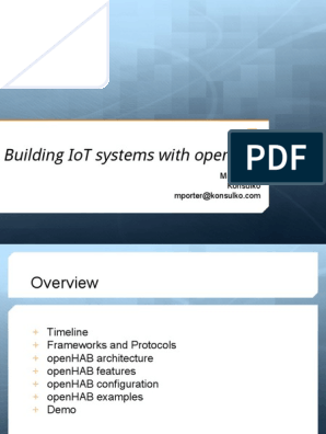 Building IoT Systems With OpenHAB | Internet Of Things
