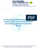 Presentacion y Presupuesto Proyecto Hab. 71,55 m2