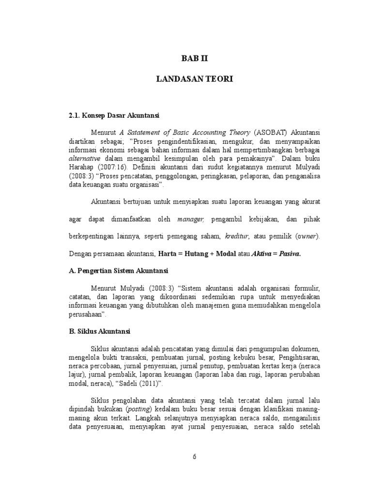 Bab Ii Landasan Teori Docx