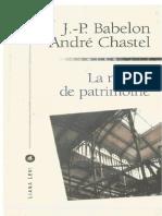 01-BABELON, J.P. CHASTEL, André. La Notion de Patrimoine.compressed.pdf.PdfCompressor-1584923