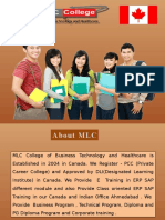 ERP E Training From Mlc College Canada