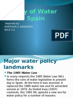 History of Water Law in Spain