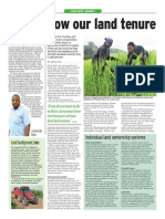 How our land tenure systems are sowing hunger