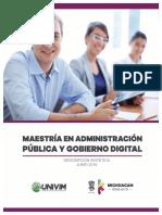 Maestría en Administración Pública y Gobierno Digital