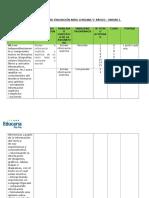 Matriz Técnica de Evaluación Abril Lenguaje 5