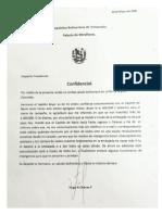 Carta Chavez a Ollanta
