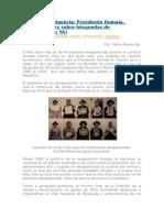 Presidente Humala, Promulgue La Ley de Busqueda de Desaparecidos Ya