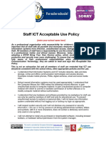 Staff ICT Acceptable Use Policy