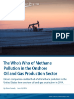 The Who's Who of Methane Pollution in the Onshore Oil and Gas Production Sector