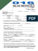 Apertura de Protocolo 2016 -