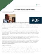 Para tucano, destino do PSDB depende de Temer