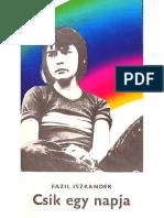Fazil Iszkander- Cs1k 3gy napja