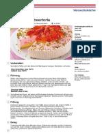 Rezept PDF Cremige Erdbeertorte