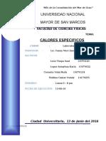 teoria calores especificos