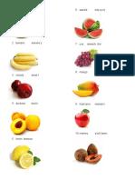 Frutas, Verduras y Partes Del Cuerpo en Quiche