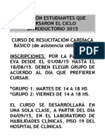 CURSO RESUCITACION 2015