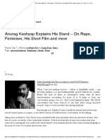 Anurag Kashyap Explains His Stand – on Rape, Feminism, His Short Film and More _ F.i.g.h.t C.l.u