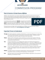 United Games Commission Plan
