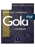New Gold First Certificate Course Book.-
