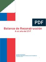 Balance de Reconstrucción 27F